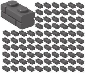 ☀️100x NEW LEGO 1x2 DARK BLUISH GRAY Modified Masonry Profile Bricks Wall #98283