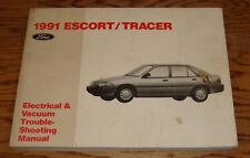 1991 Ford Escort Mercury Tracer Wiring Diagram EVTM Manual 91