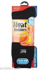 Heat Holders - Ladies Winter Warm Thick Hiking Thermal Socks, 4-8 UK / Black