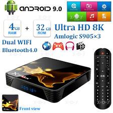 X99Max+ 4+32G Android 9.0 8K Uhd Tv Box Dual Wifi Bt4.1 H.265 Amlogic S905x3 Us