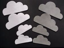 8 cloud felt die cuts. Embellishments, bunting, box frames, card toppers