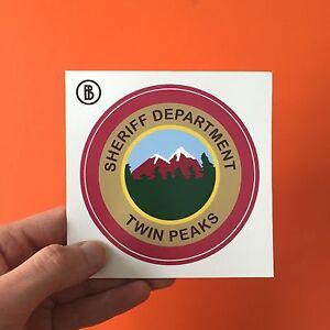 Twin Peaks Sheriff Department Sticker, tv prop, david lynch, agent dale cooper