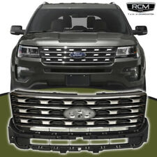 Front Grill Black and Silver Factory Style Grille For FORD EXPLORER 2016  2018