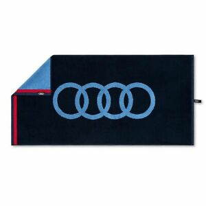 Audi Sport Towel 50x100cm Blue Shower Towel 3132100300 Genuine New