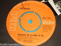 "VINYL 7"" SINGLE - NEIL SEDAKA - BREAKING UP IS HARD TO DO - RCA 1811"