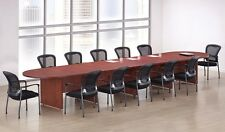 New Amber 18' Racetrack Conference/Boardroom/Meeting Room Office Table
