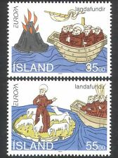 Iceland 1994 Saint Brendan/Boat/Volcano/Sheep/Religion/Animation 2v set (n38472)