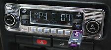 USA-4DIN  AM FM CD Radio  ustom Autosound  CD160 Watts Chrome Face * Bluetooth *