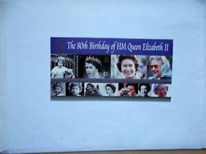 ASCENSION ISLAND: 2006 Queen's 80th Birthday Sheet U/M MS949
