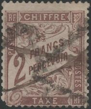 "FRANCE STAMP TIMBRE TAXE 26 "" TYPE DUVAL 2F MARRON 1884 "" OBLITERE A VOIR  K048"