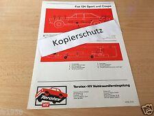 Fiat 124 Sport und Coupe Terotex Hohlraumversiegelungsplan