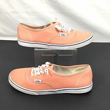 Vans Off the Wall Coral Pink Canvas Boat Sneaker Skater Shoes Womens 8.5