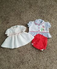 Lot of Vintage Baby Clothes Baby Girl Dresses Newborn Infant 0-3 Months