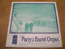 PARRY'S BARREL ORGAN GOLDEN AGE OF MECHANICAL ORGAN  = SAYDISC SDLB 234