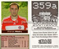 "RARE !! EXTRA-STICKER n°359a Franck Ribery ""FUSSBALL 2007/2008"" Panini"