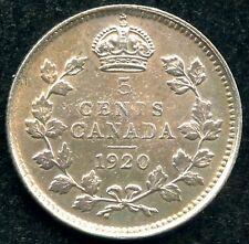1920 Canada 5 Cent Silver Coin (1.17 Grams .800 Silver)
