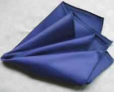 Hankie COTTON Pocket Square Handkerchief MENS Hanky DARK ROYAL BLUE