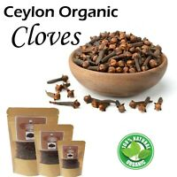 Pure Organic Natural Ceylon Whole Cloves - from Sri Lanka 50g | 100g Therapeutic