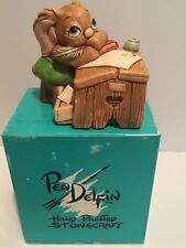 Vintage Pen Delfin Boswell Hand Painted Stoneware Figurine England Original Box