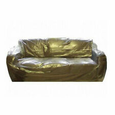 4 x Strong Polythene 3-4 Seater Sofa Cover ideal when Moving / Decorating 3x3.6m