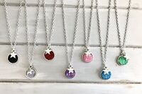 "1 x Silver Star & Sparkly Druzy Wish Silver Plated 18"" Necklace New in Gift Bag"
