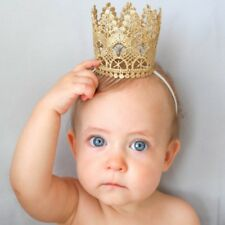 Newborn Baby Girls Infant Toddler Big Crown Headband Hair Band Headwear Tiara