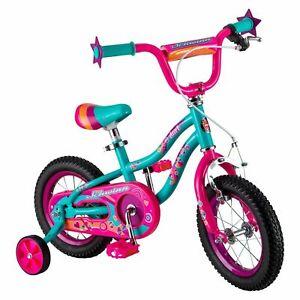 Schwinn Duet 12 inch Girl's Bike Pink Kids Bicycle With Training Wheels 2-4 Year