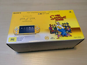 Sony PSP 2000 The Simpsons Yellow System Brand New