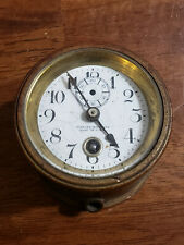 Antique Brass Clock Maritime Nautical Ships