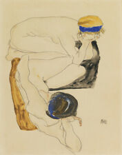 Egon Schiele Two Reclining Nudes Canvas Print 16 x 20      #4704