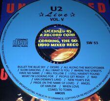 U2 Live Vol. 5 CD Rare Bono Desire I Will Follow Pride (In The Name Of Love)