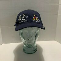 Walt Disney World Mickey Mouse in History Hat Used Snap Back Cap