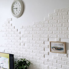 30x60cm PE Waterproof Pure White 3d DIY Wall Stickers Brick Room Decoration