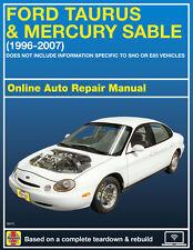 2007 Ford Taurus Haynes Online Repair Manual-Select Access