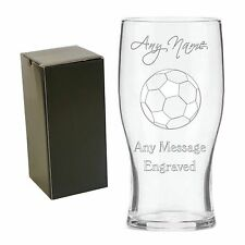 Personalised Engraved Tulip Pint Glass Football Coach End of Season Gift Award