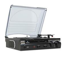 Schall Plattenspieler Turntable HiFi Mini Kompakt Stereo Anlage USB AUX Recorder