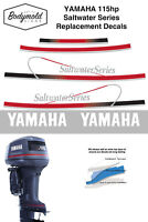 YAMAHA 115hp Saltwater Series replacement outboard decals