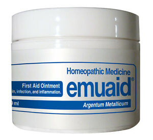 Emuaid Ointment for Psoriasis Dermatitis Eczema Rosacea Acne Bedsores More 2 oz.