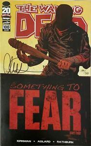 THE WALKING DEAD #100A SIGNED CHARLIE ADLARD W/COA & #100 SDCC COVER 2 COVER SET