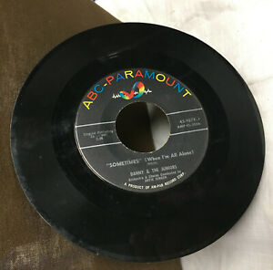 ABC Paramount Danny & The Juniors At the Hop Sometimes(When I'm All Alone) 45