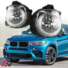 14-17 For BMW X Models Clear Lens Pair Bumper LED Fog Light Lamp OE Replacement