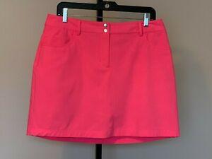 Womens Slazenger Golf Skort Shorts Skirt Activewear sz 8 Neon Pink