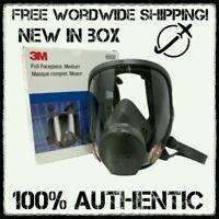 3M 6800 Full Facepiece Reusable Respirator size Medium Free shipping