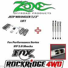 "Zone Offroad 3"" Jeep Wrangler TJ LJ 97-02 Suspension Lift Kit W/ Fox Performance"