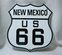 VINTAGE NEW MEXICO ROUTE 66 US PORCELAIN SIGN GASOLINE SERVICE PUMP GAS OIL RARE