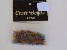 Vintage Woolworths Multicolor Plastic Craft Beads String Necklace Crafts Sewing