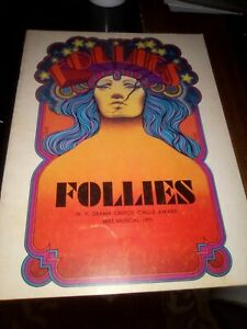 FOLLIES, Rare 1971 Broadway Program. Sondheim, Smith, Collins, Nelson, McMartin