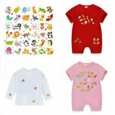 DIY Animal Patches Kids T-shirt Heat Transfer Sticker Washable Iron On Appliques