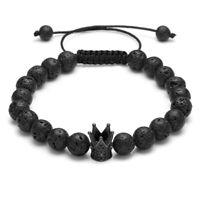 Handmade Natural Lava Stone Bead Essential Oil Diffuser Adjustable Bracelet NSL4