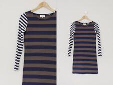 Chinti and Parker Organic Cotton Color Block Striped Breton Mini Dress XS S